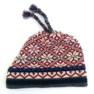 LANDS END Winter Patterned Knit Hat